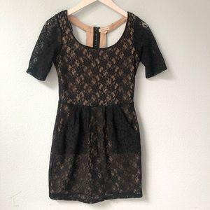 UO Silence + Noise black lace cutout dress